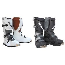 Kids Wulfsport Rugged Leather Race BOOTS Many Sizes in Black or White BARGAIN 38 Approx 5uk Black