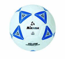 Mikasa No 3 Deluxe Cushioned Soccer Ball, Blue/White