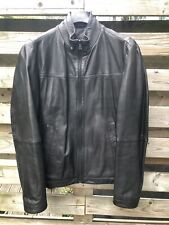 Hugo Boss Black Lambs Skin Leather Jacket Medium RRP £475