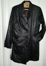 Wilsons Leather Pelle Studio Black Leather Coat Large ZipOut Thinsulate