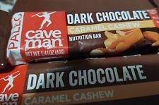 24 qty Caveman Foods Paleo-Friendly Nutrition Bars Dark Chocolate Caramel Cashew
