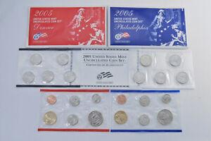 2005 Official U.S. Mint Set P & D - 22 Uncirculated Coins  *415