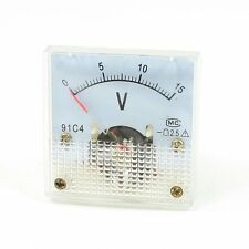 Meter Voltmeter 91C4 Class 2.5 Accuracy DC 0-15V Analog Voltage Panel