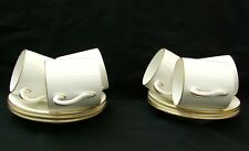 Shelley white china gold trim coffee cans and saucers 1913-26 mark