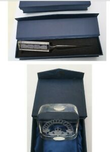 Dublin Crystal Letter Opener and Paper Weight
