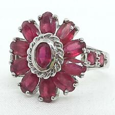 World Class 3.10ctw Mozambique Ruby 925 Sterling Silver Ring Size 7.75 4.8g