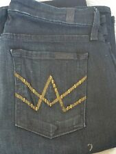 Seven for All Mankind Womens Jeans Flare A Pocket Size 28