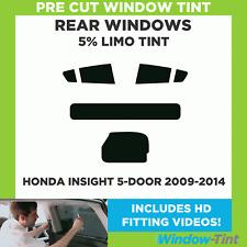 Pre Cut Window Tint - Honda Insight 5-door Hatchback 2009-2014 - 5% Limo Rear