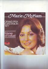 disque 45 tours  marie Myriam - l'oiseau et l'enfant