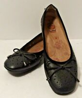 Women's Sz 7 Earth Spirit Black Shoes Flats Gelron Sole mary janes ballet slipon