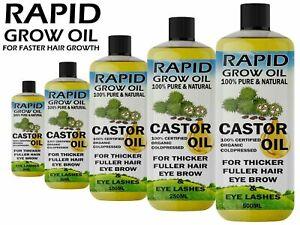 100% Pure Organic Castor Oil for Eyelashes Eyebrows Hair Growth Body Care Oil