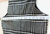 FF LADIES SIZE 12 BLACK CHECK LINED PINAFORE DRESS  TUNIC SHIFT EXCELLENT C