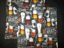 BEER GLASS MUGS HANDMADE FABRIC POTHOLDER HOT PAD SET OF 2
