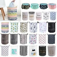 Foldable Laundry Hamper Bag Washing Basket Clothes Storage Sorter Bin Organizer