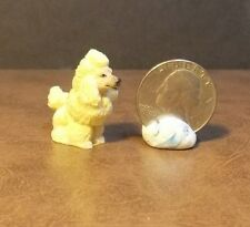 Dollhouse Miniature French Poodle Puppy Dog 1:12 inch scale K16 Dollys Gallery