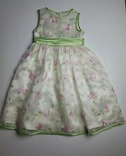 Bonnie Jean SZ 6 Girl Dress Pink Mint Green Floral Spring Easter .cl