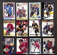 Lot of Autographed Hockey Cards_Steve Yzerman_Grant Fuhr_Joe Mullen_C. Lemieux