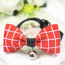 1-Purple Pet Dog/Cat Bowknot Collar Cute Gift Pet Puppy Grooming Bows With Bell