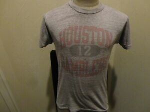 Vtg 80's RARE Champion PAPER thin DEFUNCT Houston Gamblers USFL 50-50 T-shirt S