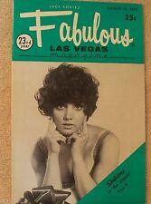 Fabulous Las Vegas Magazine Jerry Lewis Lili St. Cyr Mitzi Gaynor 3/14/1970