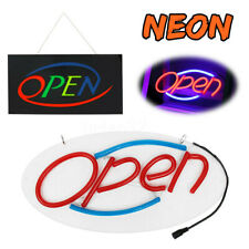 LED OPEN Shop Sign Neon Display Bar Studio Window Hanging Light Visual  US