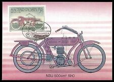 Hungary MK Motorbike Motorcycle NSU 1910 Carte Maximum Card MC cm al26