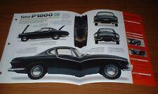 1961 VOLVO P1800 ORIGINAL IMP BROCHURE SPECS INFO 61 60 62 63 64 65 66-71 P 1800