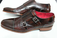 Jeffery West Muse Brown Scarface College Double Buckle Shoes UK 8 BNIB