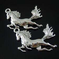 20X Antike Silber Ton Legierung Laufendes Pferd Charme Anhänger Schmuck 51984