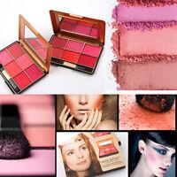 6 Colors Miss Rose Face Blusher Cheek Powder Blush Palette Makeup with Brush POP