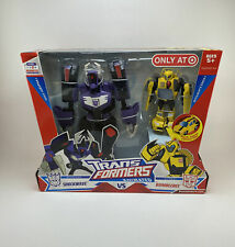 New Transformers Animated Shockwave VS Bumblebee Target Exclusive Voyager Class