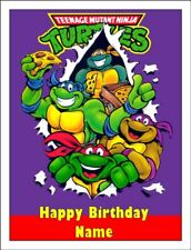 TEENAGE MUTANT NINJA TURTLES A4 Edible Cake Topper Icing Image Cake Decoration #