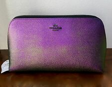 NWT Coach HOLOGRAM Multi-Color Large Cosmetic Case 22 Make-Up Travel Bag #00012