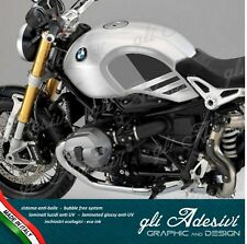 Set Adesivi serbatoio replica BMW Ninet Nine T Urban GS firma Gaston Rahier Grey