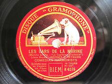 78rpm COMEDIAN HARMONISTS - LES GARS DE LA MARINE / QUAND LA BRISE VAGABONDE