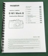 Olympus E-M1 Mark Iii Instruction Manual: 333 Pages & Protective Covers!
