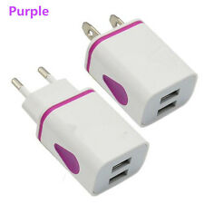 2.1A 5V LED 2 USB Wall Charger Travel Adapter Fast Charging For iPhone Samsung R