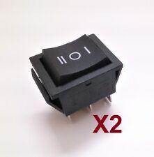 Interruptor Basculante Bipolar - 3 Posiciones - I 0 II - 16A - 250V - 2 Unidades