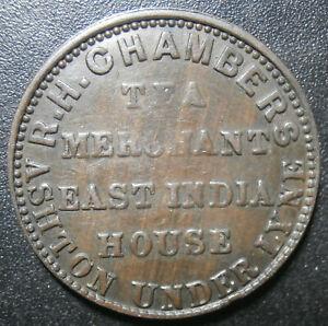 Farthing token - Chambers tea merchant - Ashton Under Lyne W.50