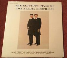 THE EVERLY BROTHERS LP VINYL RECORD 1960 PRESS ( THE FABULOUS STYLE OF ) VG