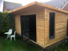 14x10 Bi Fold summerhouse with 2ft porch bifold shed workshop pent 22mm WOW!