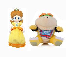 Super Mario Koopa Bowser Jr. and Princess Daisy Soft Plush Toy Stuffed Doll 1Set