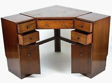 Vintage  Mahogany Corner Desk With Cupboards And Drawer c 1920  [PL4442]
