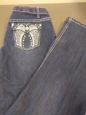 Arizona Jeans Women's Bootcut Juniors Plus Size 18.5 Embellished Jeans