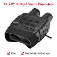 2.3 Inch Screen 4X Zoom IR Night Vision Binoculars FOV 10° 300M in Full Darkness