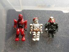 3 X Mega Blocks minifigures bundle job lot including pirate skeleton