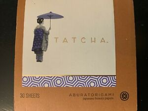 TATCHA Aburatorigami Japanese Beauty Blotting Papers 30 Sheets Abaca Leaf & Gold