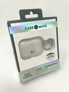 Case Mate Case for Apple AirPods Pro with Ring Clip Soap Bubble Iridescent White