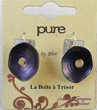 Boucles d'Oreilles Pure By Noa Victoria Indigo 2cm Dormeuses- Bijoux Pure By Noa