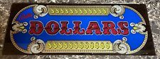 Bally Dollars Vintage Slot Machine Glass Replacement Piece Display Pre-owned